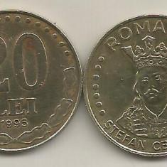 ROMANIA 20 LEI 1995 [3] livrare in cartonas - Moneda Romania, Fier