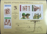 NAURU - SCUTISM, CERCETARE 75 ANI, 1982,  1 M/SH, NEOBLIT. -  WS 98