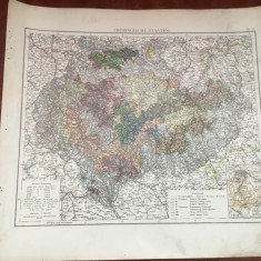 Veche harta inceput de secol XX statele Turingiei / Thuringische Staaten ! - Harta Germaniei