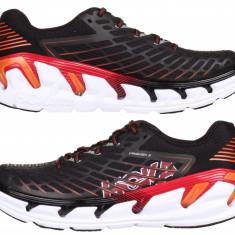 Hoka Vanquish 3 Pantofi alergare barbati negru-rosu UK 8 - Incaltaminte atletism