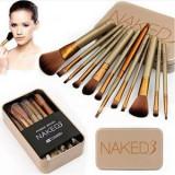 Set Trusa 12 Pensule Machiaj Makeup Profesional Naked 3