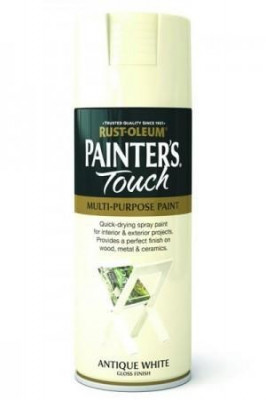 Vopsea Spray Painter's Touch Gloss Antique White 400ml foto