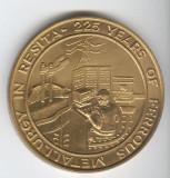 RESITA 225  de Ani 1771 -1996 - SIDERURURGIE METALURGIE, Medalie superba 7 cm