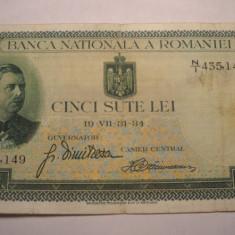 500 lei 1934 - Bancnota romaneasca