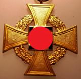 I.302 GERMANIA AL III-LEA REICH DECORATIE NAZISTA + MINIATURA 40 Years Faithful