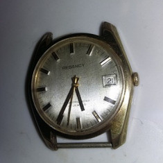 Ceas de mana barbatesc de colectie,ceas Regency marcat-stantat placat AUR,T.GRAT