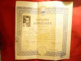 Diploma de Maturitate -Scoala Medie nr 1 Targoviste 1960