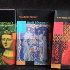 REGII BLESTEMATI - MAURICE DRUON 3 VOLUME - Roman istoric