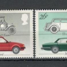 Anglia .1982 Automobile britanice KB.92 - Timbre straine, Nestampilat