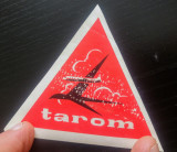 Reclama/ sticker Tarom// perioada comunista