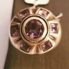 Inel din argint cu ametist. Masura - 16 - Inel argint