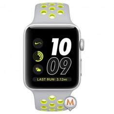 Apple Watch Series 2 Sport Nike Plus 38mm Alluminium Case Galben- Argintiu, Aluminiu