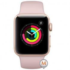 Apple Watch Series 3 Sport 42mm Aluminium Gold Plastic Band Roz, Aluminiu, Rose Gold