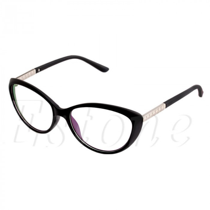 Ochelari Rame ochelari de vedere  cu lentile clare stil cat eye foto mare