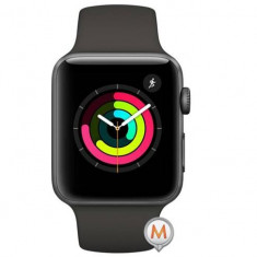 Apple Watch Series 3 Sport 38mm Aluminium Grey Plastic Band Gri, Aluminiu