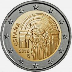 RAR !! - Spania moneda 2 euro 2018 - Compostela - UNC, Europa