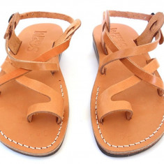 Sandale Piele Naturala Deget Camel - Sandale dama