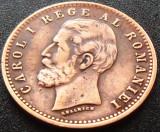 Moneda istorica 2 Bani - ROMANIA, anul 1900  *cod 4814 --- erori