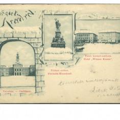 Romania 1899 Arad mozaic Art Noveau ilustrata cp - Carte Postala Transilvania pana la 1904, Circulata, Fotografie
