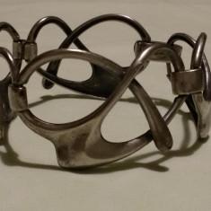 BRATARA argint Semnata BRUNEL secol 19 ART DECO splendida SUPERBA vintage RARA