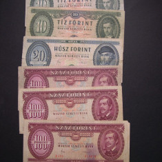 Lot 6 buc. DIFERITE Ungaria forint 1962 - 1989, Europa