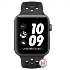 Apple Watch Series 3 Sport Nike Plus 38mm Aluminium Anthracite Plastic Sport Band Negru, Aluminiu, Gri
