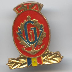 CTA - GENIU - Insigna email 1970 Superba