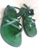 Sandale Piele Naturala Summer Verzi