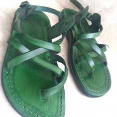 Sandale Piele Naturala Summer Verzi - Sandale dama