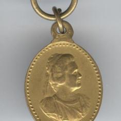 1900 REGINA ELISABETA A ROMANIEI - Fundatia VATRA LUMINOASA mini medalion SUPERB
