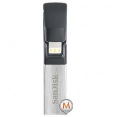 SanDisk iXpand Flash Drive 32GB with iPhone lightning connector SDIX30C-032G-GN6NN Argintiu- Negru