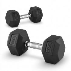 Capital Sports Hexbell 17, 5, 17, 5 kg, pereche de gantere scurte (dumbbell)
