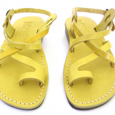 Sandale Piele Naturala Deget Galbene - Sandale dama
