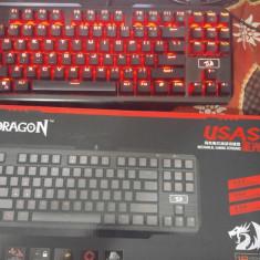 Tastatura Redragon USAS Mecanica LED ROSU - Tastatura PC