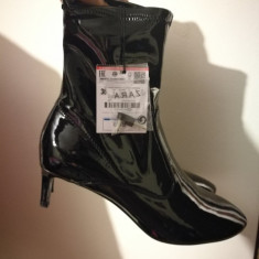 Botine - Botine dama Zara, Culoare: Negru, Marime: 36