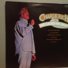 CHARLIE RICH - SHE CALLED ME BABY (1974/RCA/USA) - Vinil/Country - Muzica Country rca records