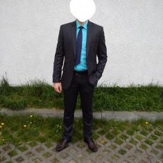 Costum barbati Slim Fit Sentierri, Marime: 44, Culoare: Gri