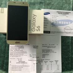 Samsung S6 G920F Gold garantie VDF 11.04.2018 - Telefon mobil Samsung Galaxy S6, Auriu, 32GB, Neblocat
