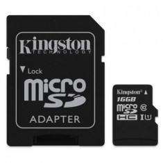 MICRO SD CARD 16GB CLASS 4 ADAPTOR KINGSTON - Card memorie