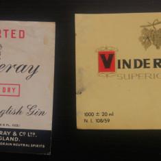 Lot 2 reclame bauturi alcoolice din perioada comunista - Reclama Tiparita