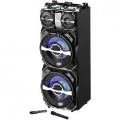 Boxa activa fixa AKAI DJ-T5, card SD, Bluetooth, microfon wireless, 300W - Echipament karaoke