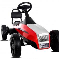 Masinuta go kart mare rosu cu pedale - Kart cu pedale