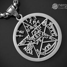 Pandantiv Pentagrama, Amuletă, Talisman, Pentaclu, Tetragrammaton – cod PND042