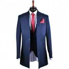 Palton barbati, Slim Fit, Bluemarin, Ucu Dima, Cod:1078 Bleumarin (Culoare: Bluemarin, Marime palton: 46)