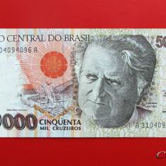 BRAZILIA - 50.000 Cruzeiros 1992 - UNC - bancnota america