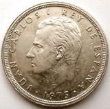 SPANIA , Juan Carlos I , 50 PESETAS 1975 , UN SG AN DE BATERE , URIASA 30mm., Europa, Crom