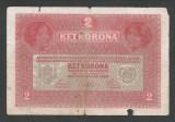 AUSTRIA  AUSTRO-UNGARIA 2  KRONEN KORONA COROANE  1917  [28]   P-21