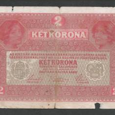 AUSTRIA AUSTRO-UNGARIA 2 KRONEN KORONA COROANE 1917 [28] P-21 - bancnota europa