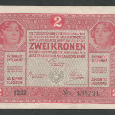 AUSTRIA  AUSTRO-UNGARIA 2  KRONEN KORONA COROANE  1917  [16]   P-21