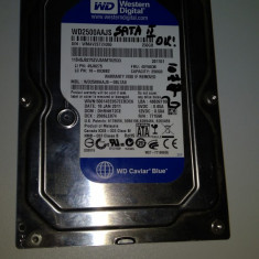 Hard disc 250 Gb SATA 2 / Western Digital / Desktop PC 3, 5 inch/ Testat (C4/5) - Hard Disk Western Digital, 200-499 GB, Rotatii: 7200, 8 MB